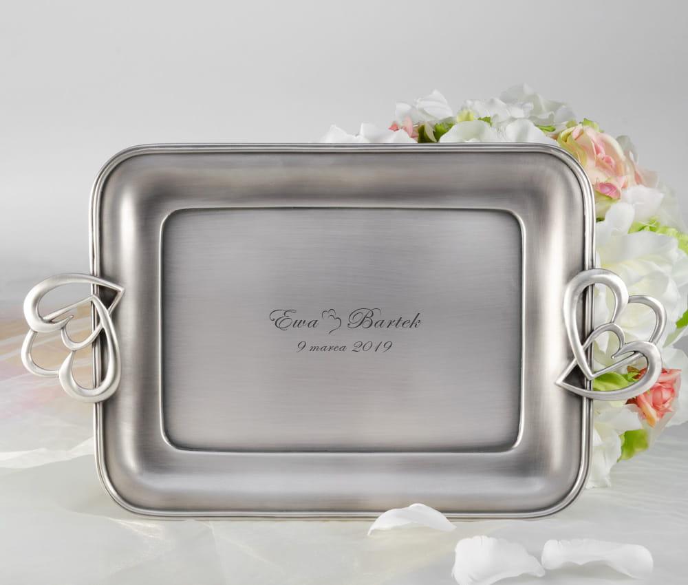 96aa923d0e3699 Taca posrebrzana na ślub - prezent dla zakochanych, dla pary, na ślub, na